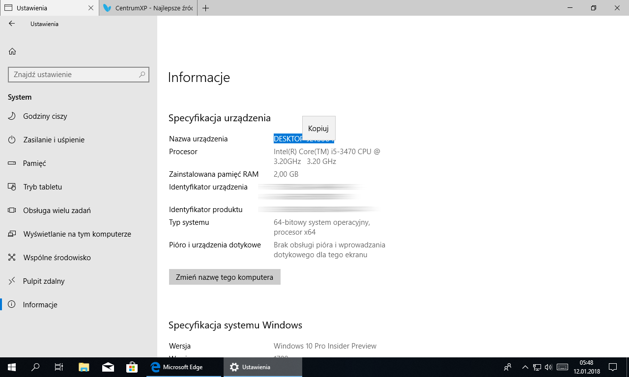 Windows 10 Redstone 4 - Insider Preview build 17074