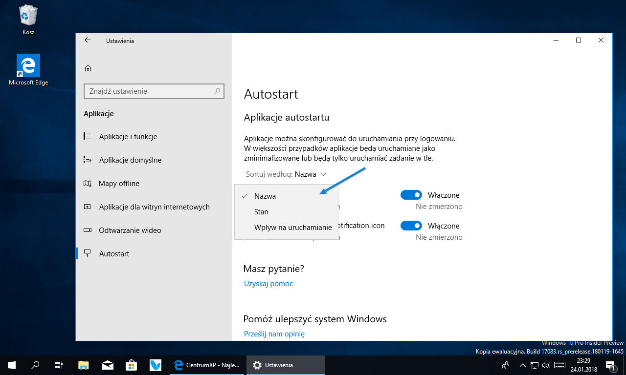 Windows 10 Redstone 4 - Insider Preview build 17083