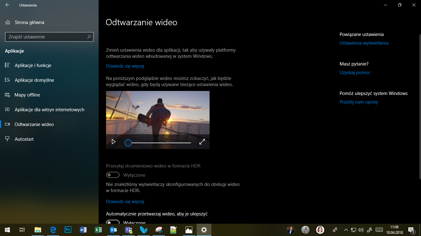 Windows 10 April 2018 Update - HDR?