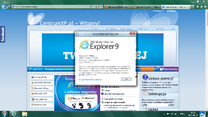 IE9 w Windows 8 7955