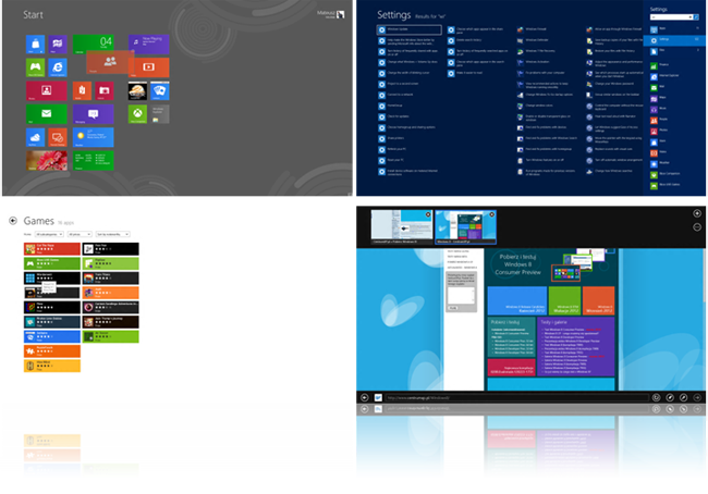 Metro UI w Windows 8