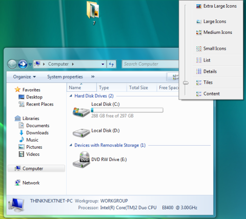 Eksplorator systemowy Windows 7