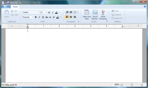 WordPad w Windows 7