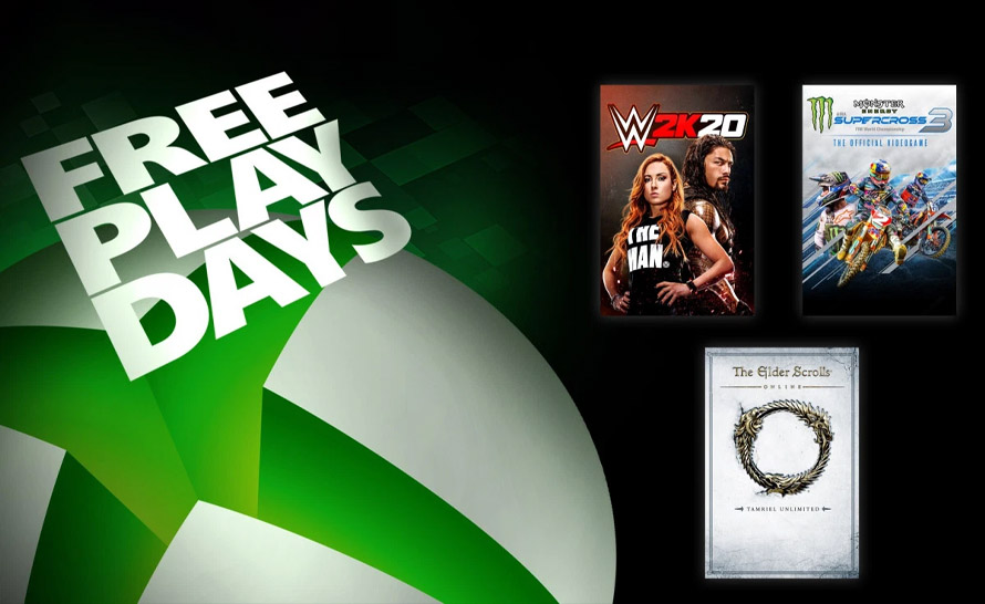 WWE 2K20, The Elder Scrolls Online i Monster Energy Supercross 3 za darmo w Xbox Live