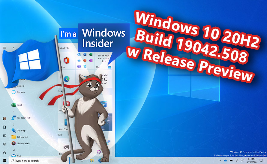 Windows 10 October 2020 Update: build RTM w Release Preview