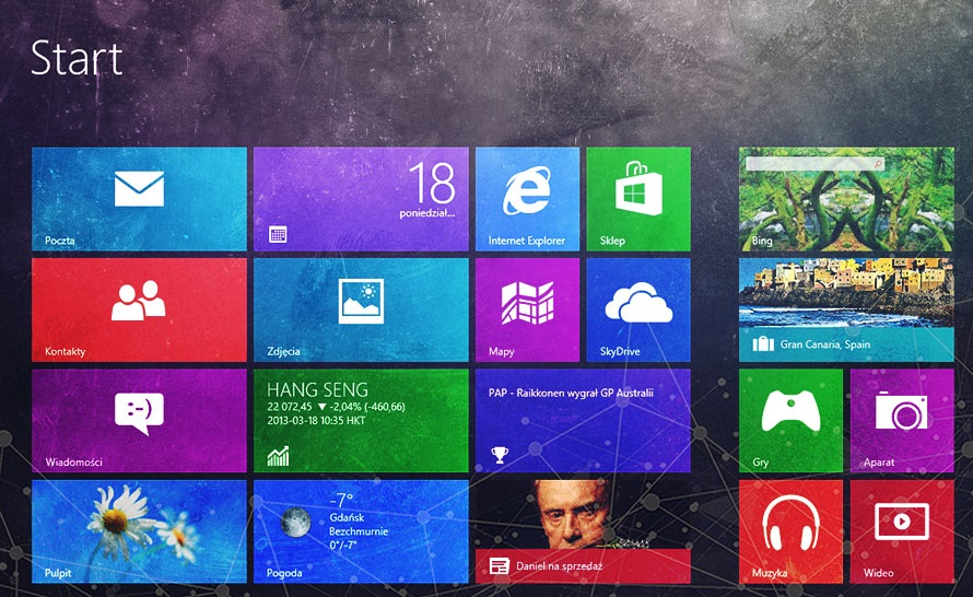 Test Windows 8 (kompilacja 7955)