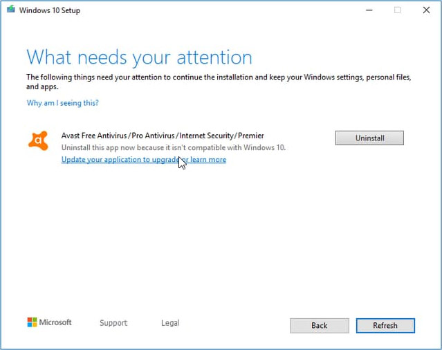 Avast/AVG w Windows 10 1909