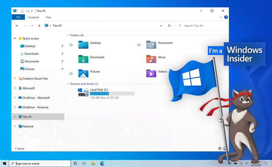 Nowe ikony w Eksploratorze plików w Windows 10 (Build 21343 w Dev Channel)